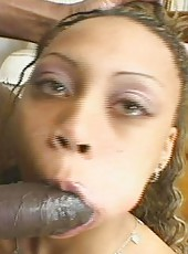 Light-skinned black riding and milking hard cock