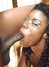 Black hottie in stockings getting face and pussy fucked