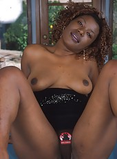 Fresh faced black babe in hardcore action
