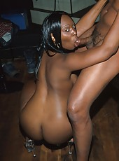 Two dicks are better than one as proven in this ebony 3way