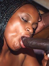 Two fat black sluts get their nappy pussys pounded