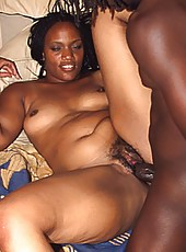 Two horny skanks get their asses plowed in an ebony 4some