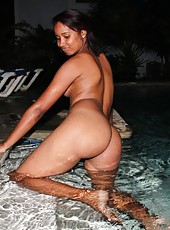 Collection of a naked black girlfriend doing slutty poses