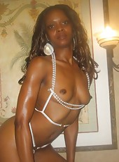 Selection of a slutty black chick posing in the nude