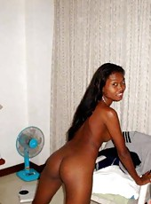 Naughty black girlfriends posing naked for their BFs