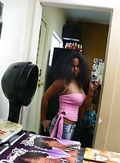 Photo gallery of an amateur sexy hot ebony chick