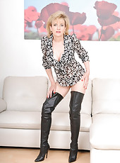 Leather boots mature