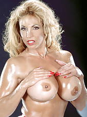 Big Tits, Muscles, Huge Vibrators, Oil, Anal Beads And Lady-juice