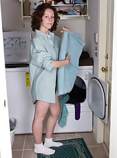 When hairy maid Candy Smith is working alone, she likes to get comfy. She puts on her client