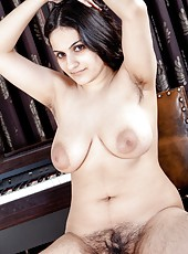 Riani is a hairy woman that is always in demand for her erotic piano lessons. This bbw is one that doesn