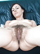 Kristy knows that she has one of the sweetest hairy pussies around and loves to abuse it with extremely large dildos.  It is clear that this hairy girl loves what she does and does what she loves.