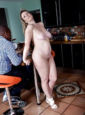 Sophie UK knows that she has great large natural tits, but she also loves to show them off to strangers.  She has been known to also strip in coffee shops to show strangers her hairy pussy too.