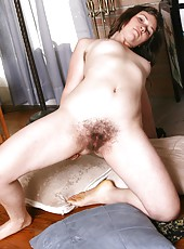 See pale minx Odette in her sexy black lingerie. She only wears it for special occasions, and today its so she can show off her scary hairy bush.