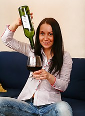 Join Klarissa for a nice glass of red but make sure you finish the bottle before Klarissa inserts it somewhere she shouldn
