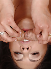 Newcomer Connie gets two hard cocks
