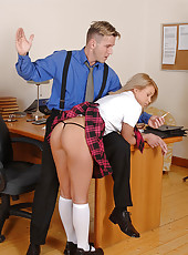 Bad schoolgirl Lydia punished & BJ!