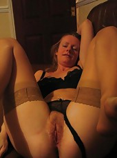 Gallery of a kinky amateur housewife spreading for her hubby