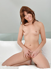 Smoking hot MILF strips down and pleases her cock hungry twat