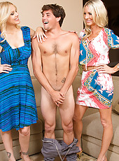 Emma Starr is at it again and she has her friend, Julia Ann, with her this time. She's out to show Julia just how easy it is to seduce a deliveryboy who wants to be a star. She calls up the store, orders herself a bottle of wine, and when the deliver