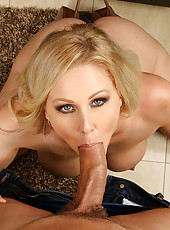 Julia Ann really appreciates her grocery delivery man. He