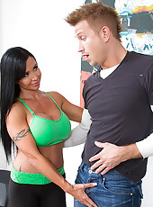 Jewels Jade seduces younger guy with her cougar mentalities.