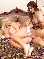 Karen FIsher and Syren De Mer are horny milfs looking to have hot threesome with a big cock.