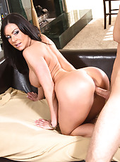 Busty hot Kendra Lust fucks younger cock and loves big cock inside of her.