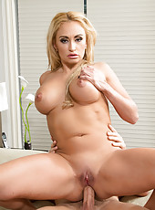 Hot blonde mom teases younger friend of her son