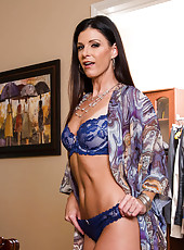 India Summer has a hot date with her husband,but she has nothing to wear. Her husband doesn't seem to be much help when it comes to helping her pick out an outfit, so India just gives up and decides that she's better off staying home in her bra