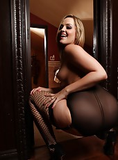 Calling all stocking and lingerie lovers, this set of the sexy Alexis Texas is for you!