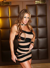 Sexy, fit Farrah Foxxx strips off her tight dress to show us her tight body.