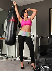 Brianna Jordan is is all dolled up in her workout gear and ready to kick some ass!
