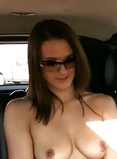 Super hottie, Misty Anderson, shows off her incredible body when she decides to change outfits in the car!