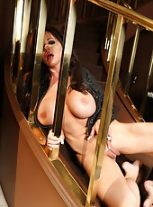 Rachel Aziani shows off her big clit and big tits.