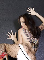 Beautiful brunette babe, Nikki Nova, is stunning showing off her big boobs and hot body in her bikini and fishnet stockings! Even better is when she strips down to nothing!