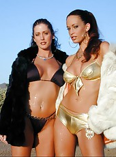 Nikki Nova and her gorgeous girlfriend get hot under the desert sun!