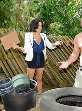 Savana got to work slobbering on his cock and then moved the party indoors where she really put him to work so do not miss this big tits boss showing her employee who the real boss is