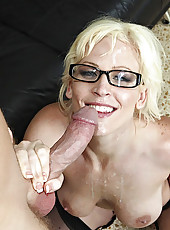 Sexy hot secretary with big tits gets picked up and banged hardcore back at the house