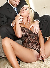 Check out this hot lingerie milf pounded hard in these cock sucking pussy fucking cumfaced pics