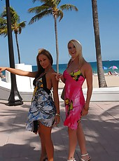 2 smoking hot beach milfs get fucked and cumfaced in these hot reality beach babe 3some fuck pics