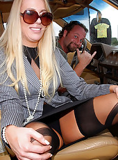 Check out hot fucking ass black stockings babe get drilled hard in her tight milf box then cumfaced in these hot reality fucking pics