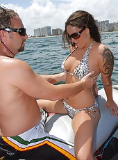 Super hot milf gets rammed up her box while riding a jet ski chk out these hot pics