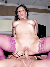 I fucked a hot ass milf at a pawn shop and had her suck my cock with my rolex around my tool check it out