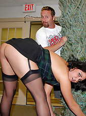 Super hot ass big tits milf gets fucked under the christmas tree in these hot holiday reality porn fucking pics