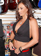 Check out this hot big tits milf selling guitars get banged in the store after getting hit on in these hot pics