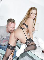 Hot milf jeani gets her pussy pounded hard in these maid service pussy fucking pics
