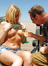 This hot blonde milf was going full throttle for the hunters cock in these hot pics