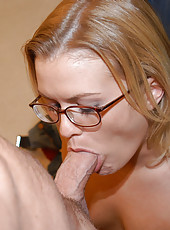 Cute milf gets creamed all over