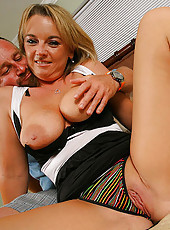 This cute milf babe is gettin creamed up on in these hot photos