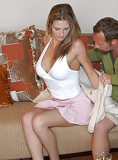 Hot ass milf babe takes the hunter back home